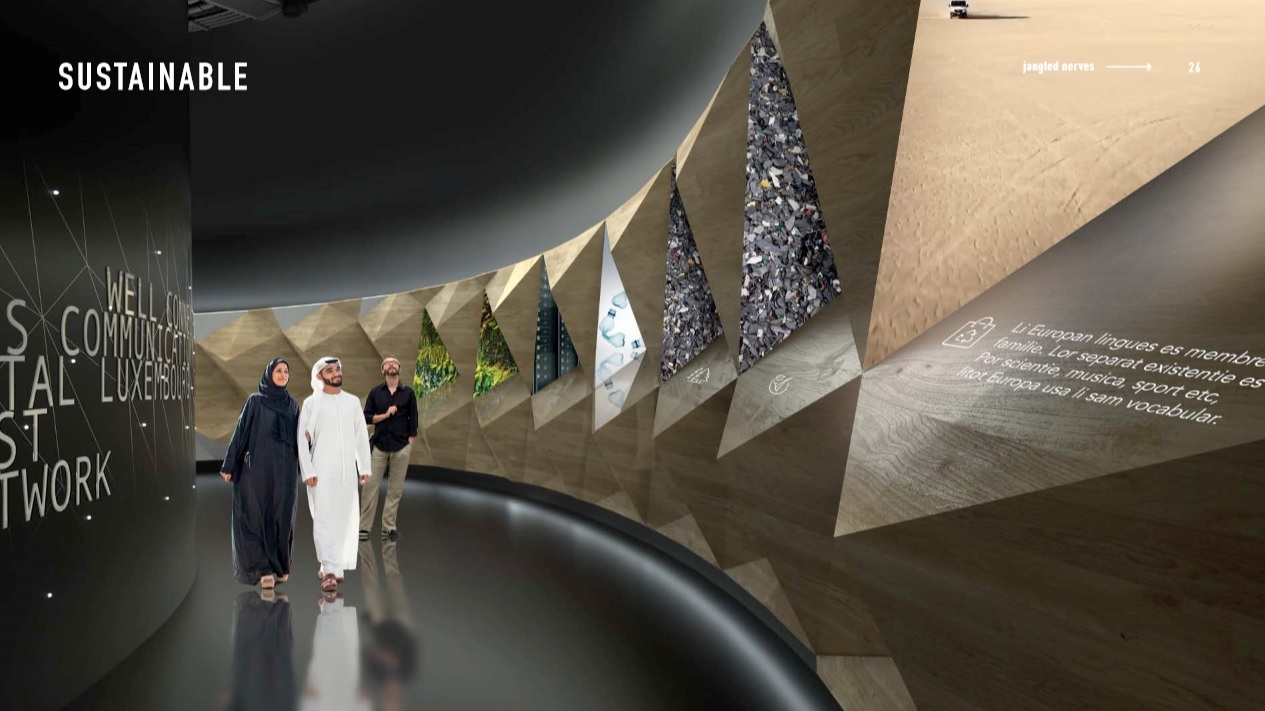 sustainable section luxemborug pavilion