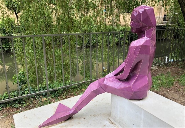 melusina purple statue